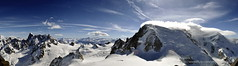 Panoramic view from Pic de l'Aiguille (aryapix) Tags: panorama france mountains clouds montagne pano panoramic cumulus nuage chamonix mont blanc panoramique valle