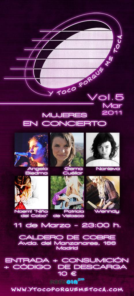 """Flyer Vol.5 marzo 2011 """"Y toco porque me toca"""""""