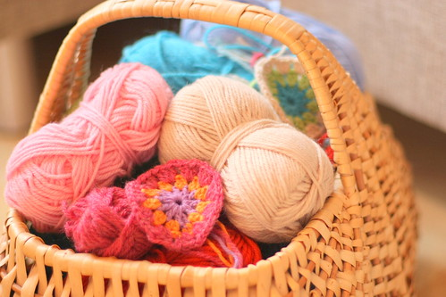 A basket of yarn