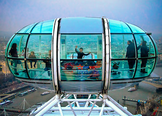 Boy in a London Eye Pod