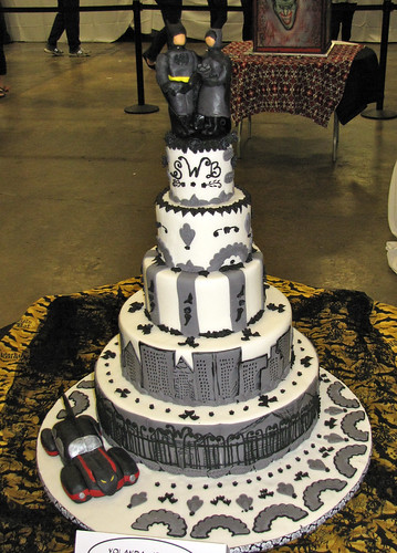 Batman and Catwoman Wedding Cake