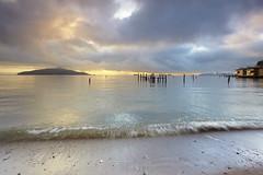 Sausalito Sky - Marin County, California (PatrickSmithPhotography) Tags: sanfrancisco sky usa seascape water fog clouds landscape bay pier sand unitedstates marin baybridge alcatraz angelisland sausalito