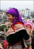 Bac Ha, Flower Hmong woman & baby (Mark Chiang Mai) Tags: southeastasia vietnam tours hmong bacha allpointseast