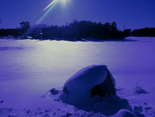[フリー画像] 自然・風景, 雪, ブルー, スウェーデン, 201104031900