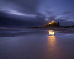 Bamburgh Castle (peterspencer49) Tags: ocean uk england seascape castle sunrise coast europe unitedkingdom northumberland coastline seaview bamburghcastle seascene oceanveiw peterspencer h3dll39 stunningseascape