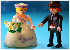 Half plus half ... (Rigib) Tags: wedding two woman man toy groom bride couple whole half playmobil lens00025 img4376 365toyproject ourdailychallenge halfplushalfequalsawhole