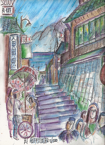 Stairways of Enoshima: My Final Poem About Enoshima by R.L.Huffstutter by roberthuffstutter