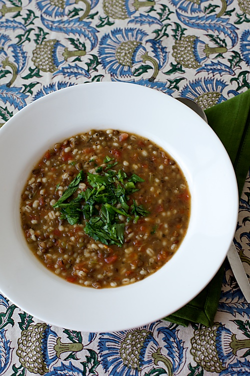 Pearl Barley And Lentil Soup
