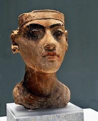 Bust of Pharaoh Tutankhamun. (oar_square) Tags: sculpture berlin art face treasure profile egypt cate antiquity neuesmuseum newkingdom amarna copenhaver pharaohtutankhamun
