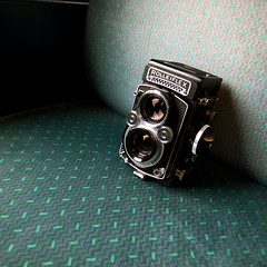 with Rolleiflex (minou*) Tags: trip travel 6x6 rolleiflex train photo exhibition photoexhibition grd