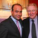 Hotel Adlon director for sales & marketing, Bardia Torabi, with Graham Cooke, founder of World Travel Awards