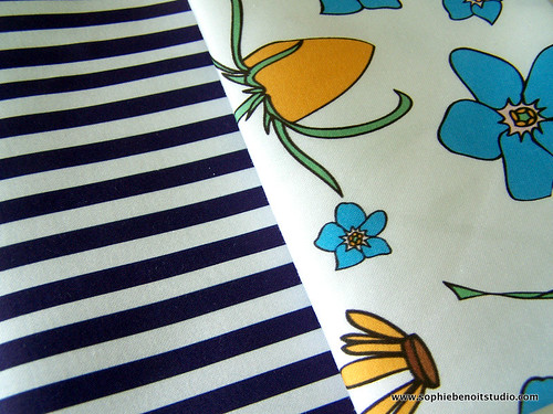 Stripes and Floral Organic Fabrics