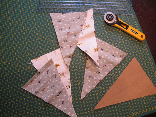 Cutting out triangles