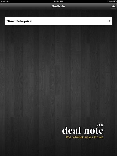 Deal note cover