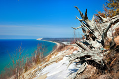 """Michigan's Caribbean"" Empire Bluff - Sleeping Bear Dunes National Lakeshore - Empire, Michigan (Michigan Nut) Tags: usa snow beach geotagged spring lakemichigan coastline sanddunes southmanitouisland sleepingbeardunesnationallakeshore benziecounty empiremichigan michigannutphotography"