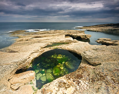 Rock Pool (.Brian Kerr Photography.) Tags: sea sky seascape green pool clouds landscape rocks northumberland howick rockpool briankerr