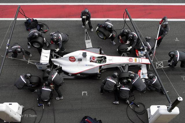 Sauber C30 2011 F1 2011 Kamui Kobayashi Pit Stop