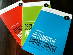 First three A Book Apart issues (Petra Gregorov) Tags: css contentstrategy html5 abookapart
