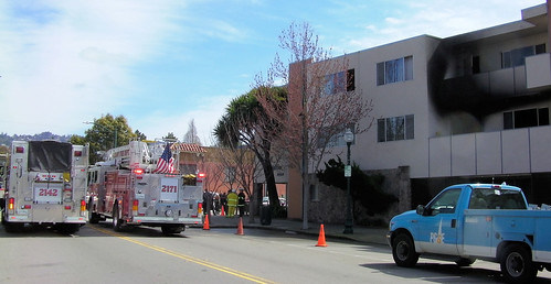 A morning fire gutted an 11-unit apartment building on Solano Avenue in Albany March 12 and required a rescue of upper-floor occupants trapped inside.