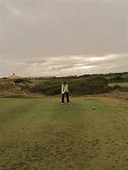 M.Carmen en el campo de golf, El Saler