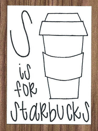 S is for Starbucks ACEO