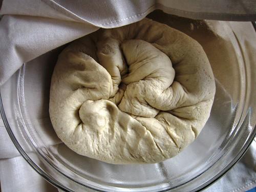 Let the beaten dough rest
