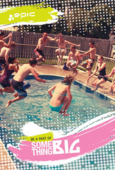 Epic Pool Party (Millionaire Hobo) Tags: party summer hot water pool swim photoshop canon poster design frozen jump ad dive levitation grand advertisement freeze midair illustrator win splash epic waterpark illustrate cannonball levitate 40d