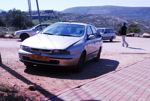 The family's car in Itamar, Israel