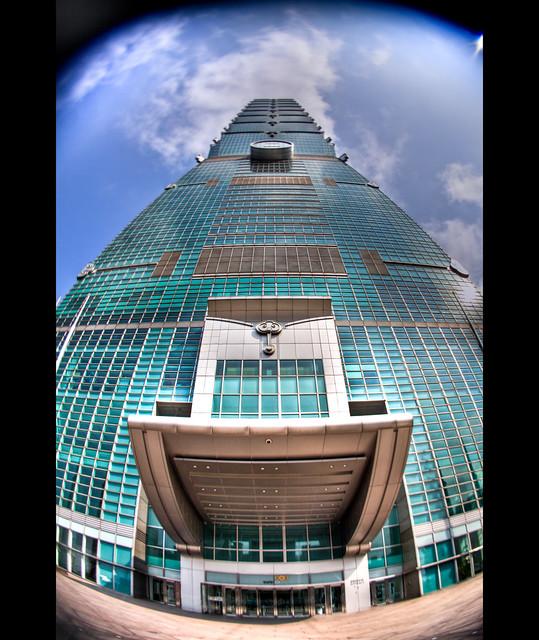 Taipei 101 in fisheye