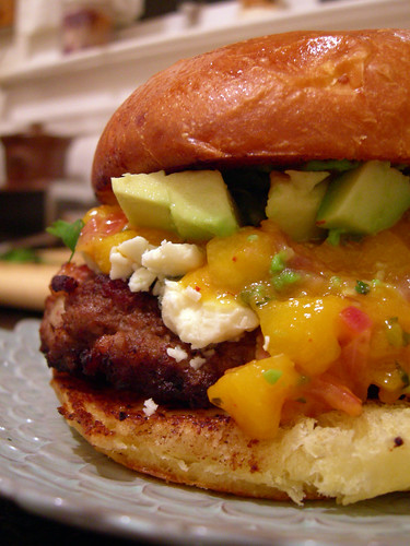 Bacon Studded Mango Chipotle Chuntney Burger