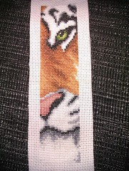 1. Tiger bookmark finished!