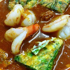 Spicy & Sour Light Curry With Shrimp And Cha-Om Omelette แกงส้มชะอมกุ้ง @ Nhà Hàng Con Voi Vàng
