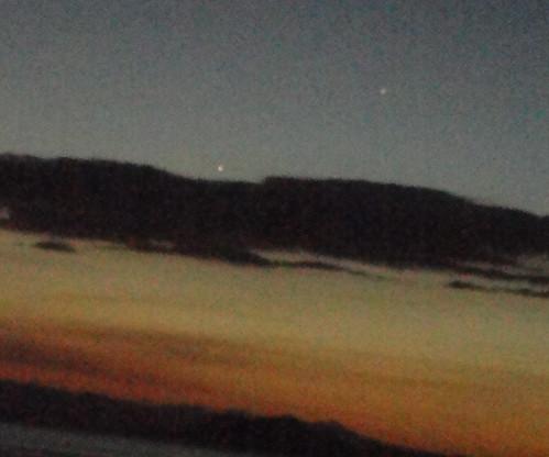Puntarenas- Mercurio y Júpiter al atardecer, 17/03/11, 6:30 pm