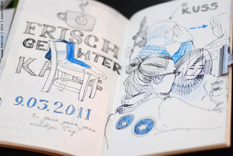 Sketch at the Starbuck café in Essen