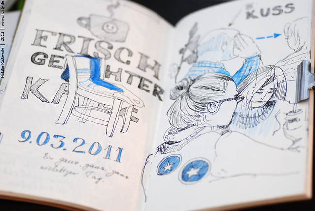 Sketch at the Starbuck café in Essen