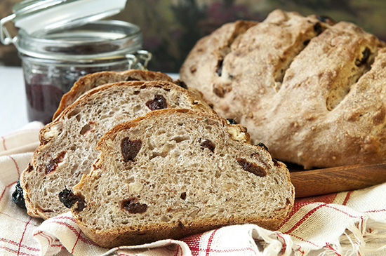 Rosemary Yeast Bread with Cherries and Pecans 1 red