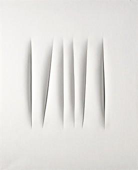 Fontana, Lucio (1899-1968) - 1966 Spatial Concept, Expectations (Christie's London, 2008)