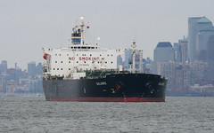 SALAMIS in New York, USA.  March, 2014 (Tom Turner - SeaTeamImages / AirTeamImages) Tags: nyc usa newyork water port bay harbor marine ship unitedstates harbour manhattan transport anchorage pony maritime transportation anchor statenisland bigapple tanker waterway stapleton salamis tomturner