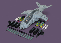 AV-24B SeaHawk (Red Spacecat) Tags: modern apache lego aircraft military harrier vtol seahawk ordnanc