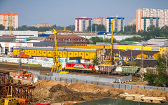 Construction of an overpass in Odintsovo (Valeri Pizhanski) Tags: odintsovo  construction building bridge