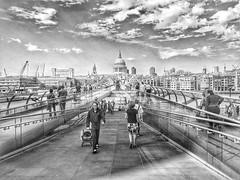 Millennium Bridge (AubreyAlexanderHill) Tags: blackwhitephotos london londra urban