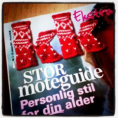 Woman's weekly magazine (osloann) Tags: square logo knitting squareformat kk strikking ukeblad iphoneography instagramapp uploaded:by=instagram