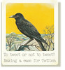 To Tweet or not to Tweet? (Julie_Kirk) Tags: birds vintage tour starter gimp free illustrations class tips online guide blackbird tweet hints twitter