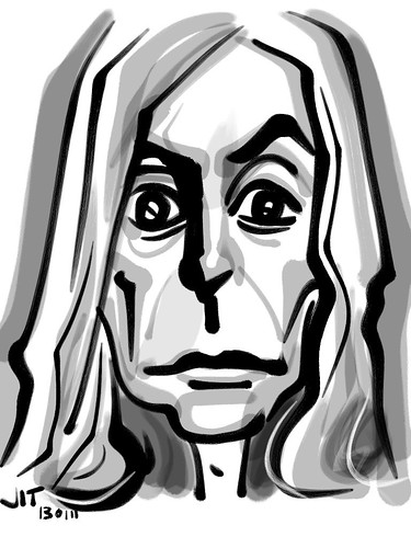 Iggy Zen Brush caricature - 1