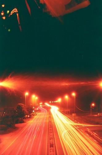 Redscale Light Trail