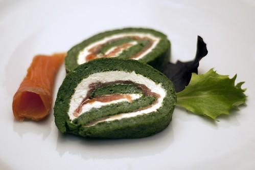Braç d'espinacs amb salmó