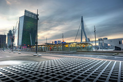 So Much To Look At In Rotterdam (Esther Seijmonsbergen) Tags: holland architecture modern rotterdam squares thenetherlands explore kpn kopvanzuid hdr futuristic erasmusbrug wilhelminaplein torenopzuid 5xp estherseijmonsbergen wwwmanhattanofeuropecom