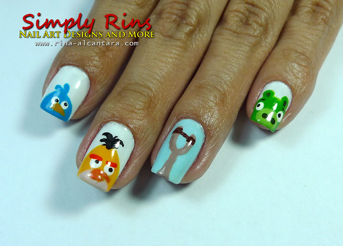 Nail Art Angry Birds 03