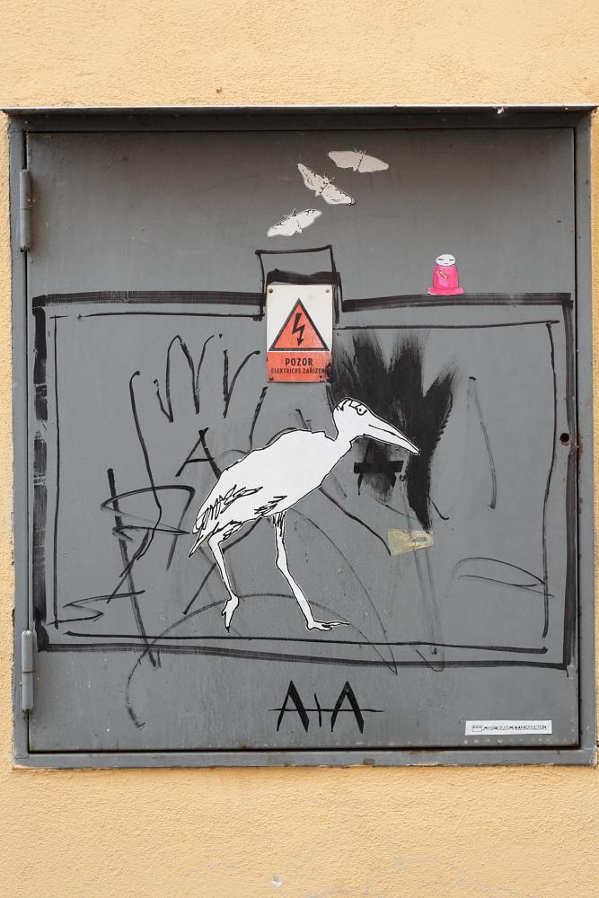 street art in Český Krumlov 8