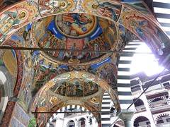 Frescoed domes at Rila monastery (Frans.Sellies) Tags: heritage church iglesia kirche unescoworldheritagesite unesco worldheritagesite monastery bulgaria rila orthodox glise unescoworldheritage monasterio monastere klooster kloster worldheritage weltkulturerbe whs bulgarie worldheritagelist welterbe bulgarije bulgarien  kulturerbe bulharsko bulgaristan patrimoniodelahumanidad unescowhs  patrimoinemondial  werelderfgoed vrldsarv    werelderfgoedlijst verdensarven wolrdheritagelist    ph118           p1280256